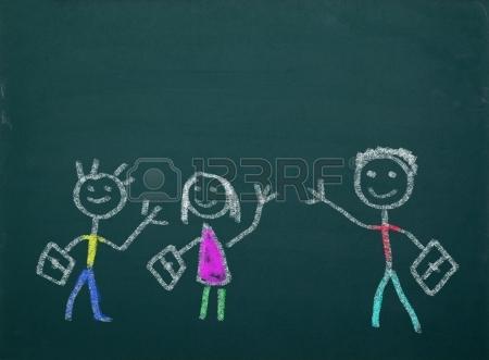 20908558-school-kid-s-drawings-on-green-blackboard-free-copy-space