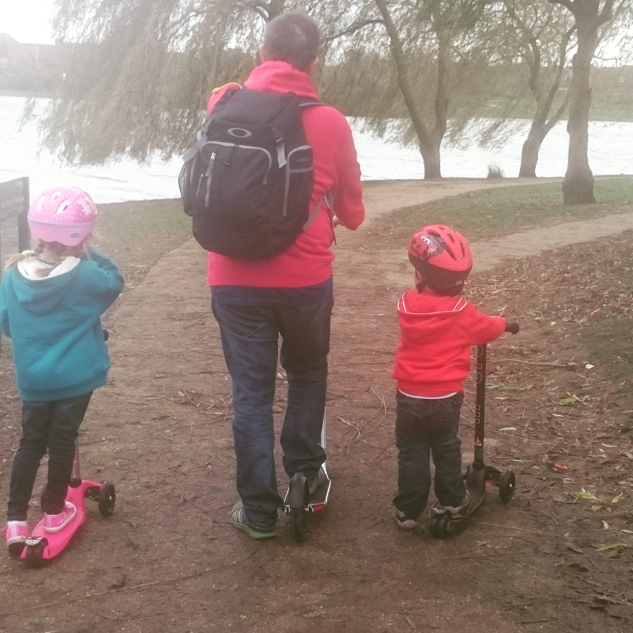 Family scooting!